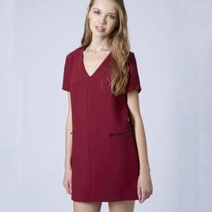 TopShop Crepe Zip Shift Dress